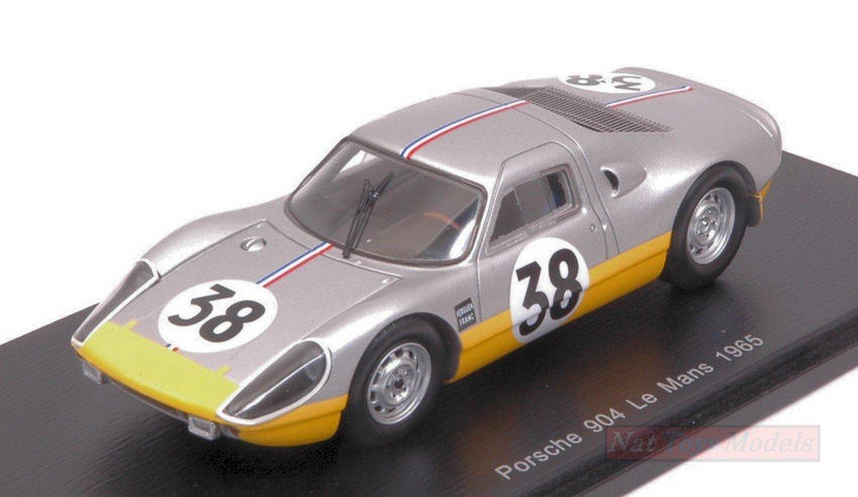 Spark Model S4683 Porsche 904 N.38 DNF LM 1965 J.DEWEZ-J.KERGUEN 1:43 Die Cast