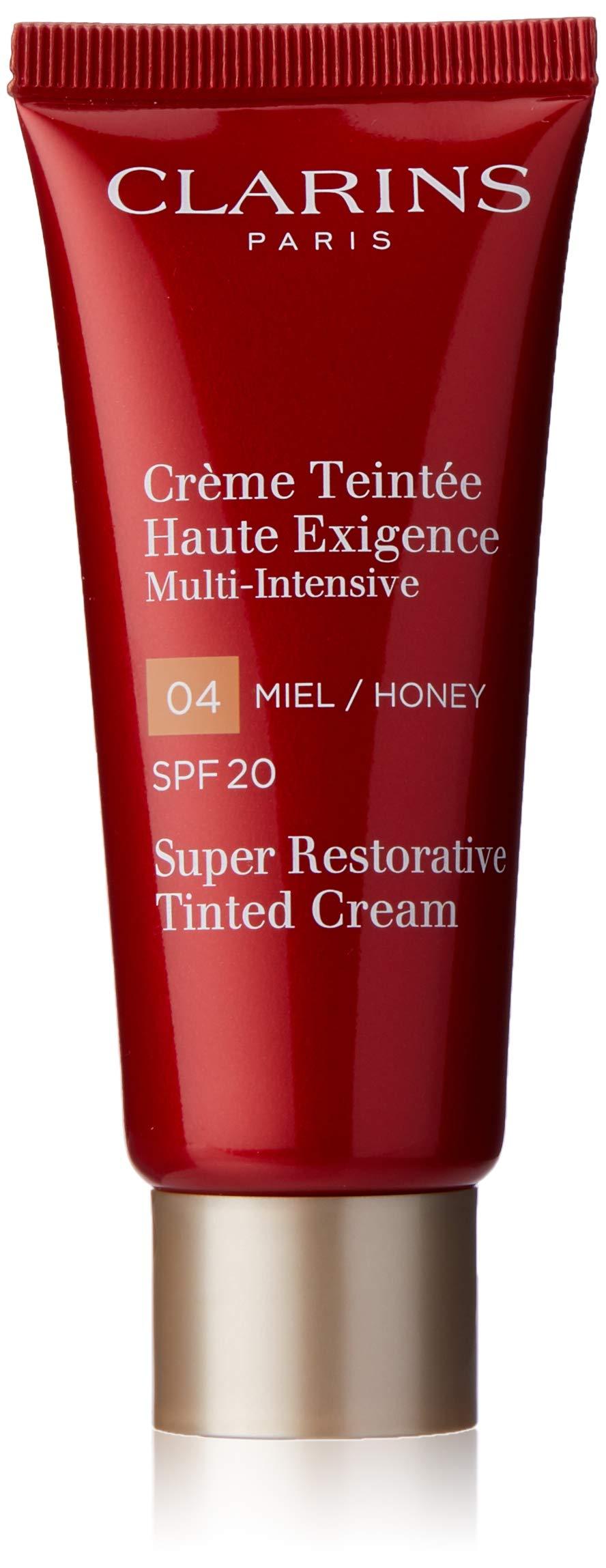 Clarins Super Restorative Tinted Cream SPF 20, No. 04 Honey, 1.4 Ounce