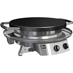 EVO Professional Series Table Top Grill (10-0021-NG), Seasoned Steel Cooktop, Natural Gas