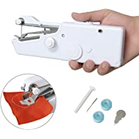 Handheld Sewing Machine, Portable Sewing Machine Mini Cordless Handheld Electric Sewing Machine Quick Handy Stitch for Fabric DIY Clothing Kids Cloth Pet Clothes Home Travel Use (Battery Not Included)