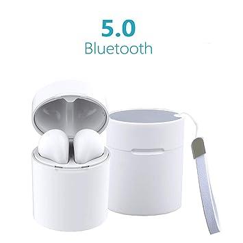45b3a713ad1 Auriculares Inalambricos Bluetooth Cascos Wireless Earphones Cascos sin  Cable Deportivo Deporte Bluetooth Mini Auriculares 5.0 con Micrófono CVC  6.0 Cascos ...