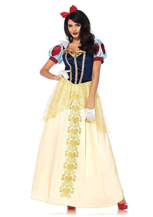 24643 Womens Snow White Princess Fairytale Wig 5 Sizes Fancy Dress Costume