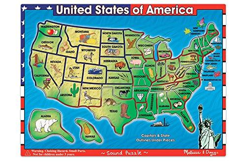 (USA Map Sound Puzzle, Teaching Toys, 2017 Christmas Toys )