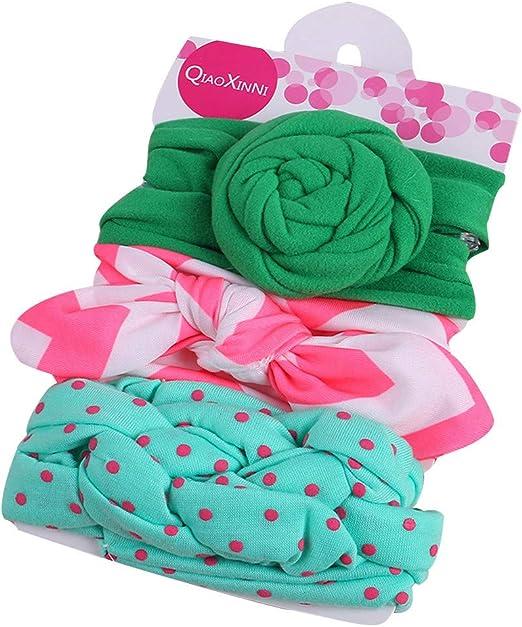 Yukong 3 Diademas para bebé niña, Diadema de Flores para el Pelo ...