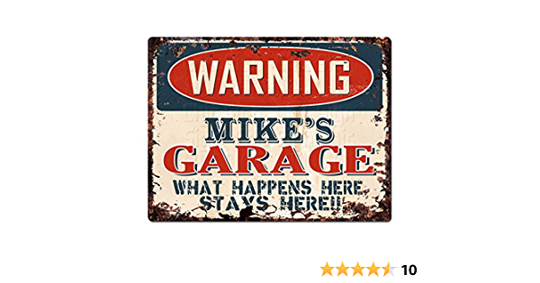 PPFG0189 WARNING HECTOR/'S GARAGE Tin Chic Sign Home man cave Decor Funny Gift