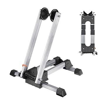 Reliancer Sports soporte de aleación plegable para almacenamiento de bicicletas, suelo de aparcamiento, soporte
