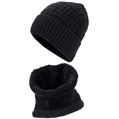 Gorras Con Bufanda y Gorros de punto Sombreros de Invierno Beanie ...