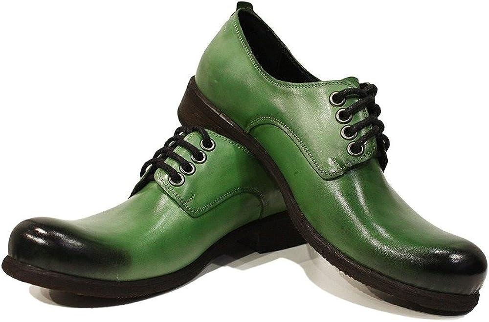 Modello Luca - Cuero Italiano Hecho A Mano Hombre Piel Color Verde ...