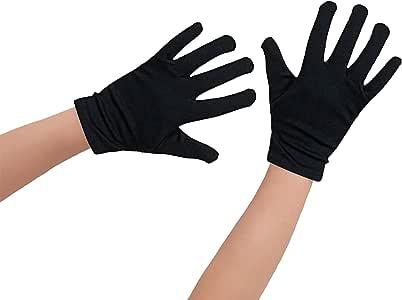 Oblique Unique® - 1 par de Guantes para niños en Color Negro de algodón, también adecuados para Manos de Adultos pequeñas: Amazon.es: Juguetes y juegos