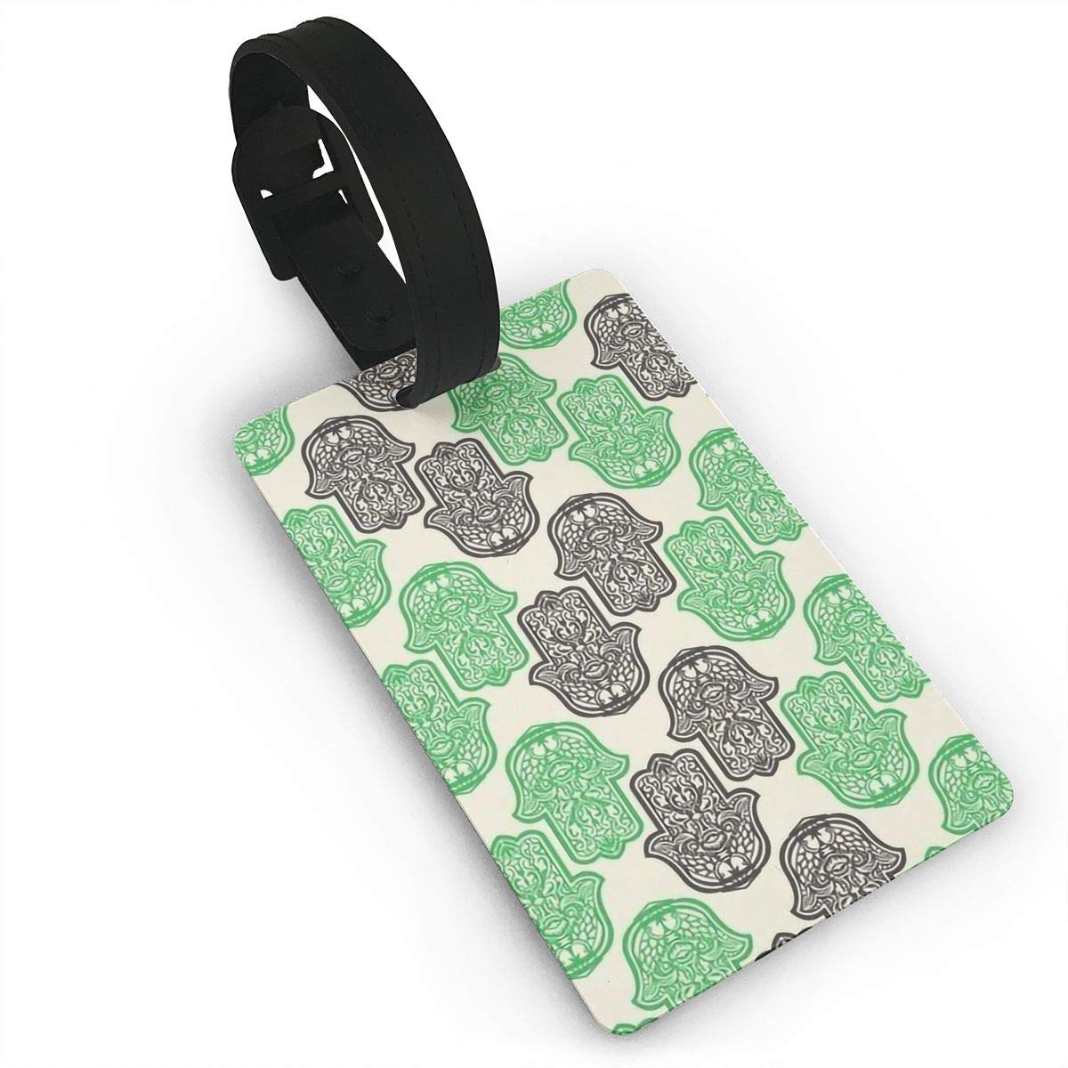 Hamsa Hand Of Fatima Travel Tags For Suitcase Bag Accessories 2 Pack Luggage Tags