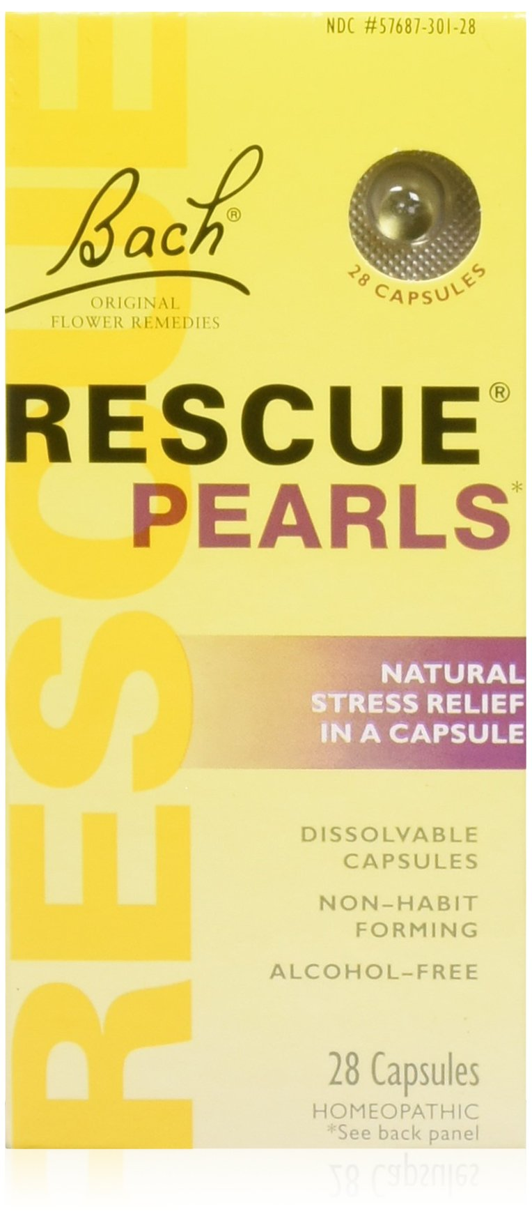 Bach Rescue Pearls Natural Stress Relief,28 Capsules (Pack of 2)