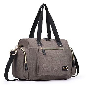 cf6c055f63c5 HaloVa Duffle Bag, Weekender Travel Tote, Unisex Overnight Shoulder Bag for  Men and Women with Detachable Shoulder Strap, Lightweight and ...