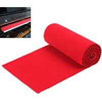 【Beste deals 】 OriGlam Red Soft Piano Keyboard Dust Cover, 88 toetsen Beschermende Dust Cover Key Cover voor…