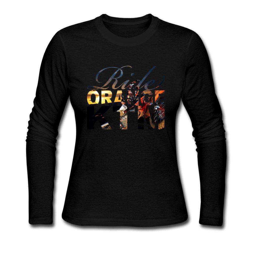 AOPO Womens Long Sleeve Ride Orange KTM Ken Roczen T Shirt