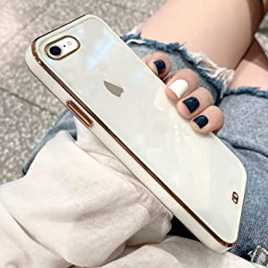 Urarssa Case Compatible with iPhone 7 Plus iPhone 8 Plus Crystal Clear Transparent Design Back Bumper Shockproof Slim Fit Soft TPU Silicone Protective Phone Case Cover for iPhone 7 Plus/8 Plus, White
