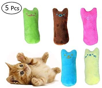 Umiwe Juguete Felpa Catnip, Gato Interactivo Juguete Limpieza de Dientes de Gato, Almohada Creativa Scratch Pet Catnip Dientes molienda Chew Toys: ...