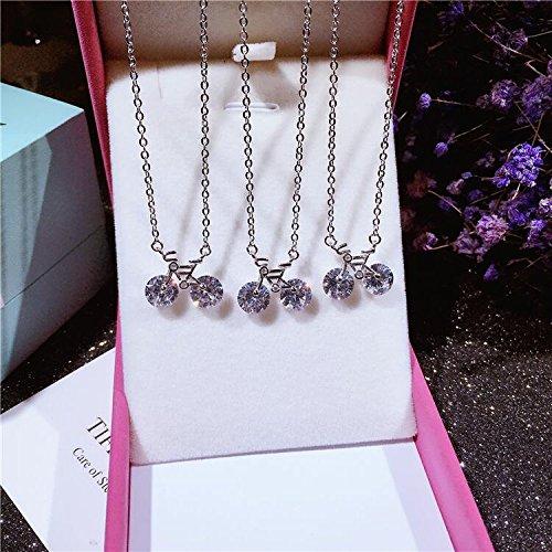 Generic 925_Pure_ silver _bike_ necklace pendant women girls