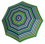 Knirps 811-495-1 X1 Pod Compact Umbrella, Small (Stripes Green/Blue)