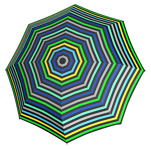 Knirps 811-495-1 X1 Pod Compact Umbrella, Small (Stripes Green/Blue) by Knirps