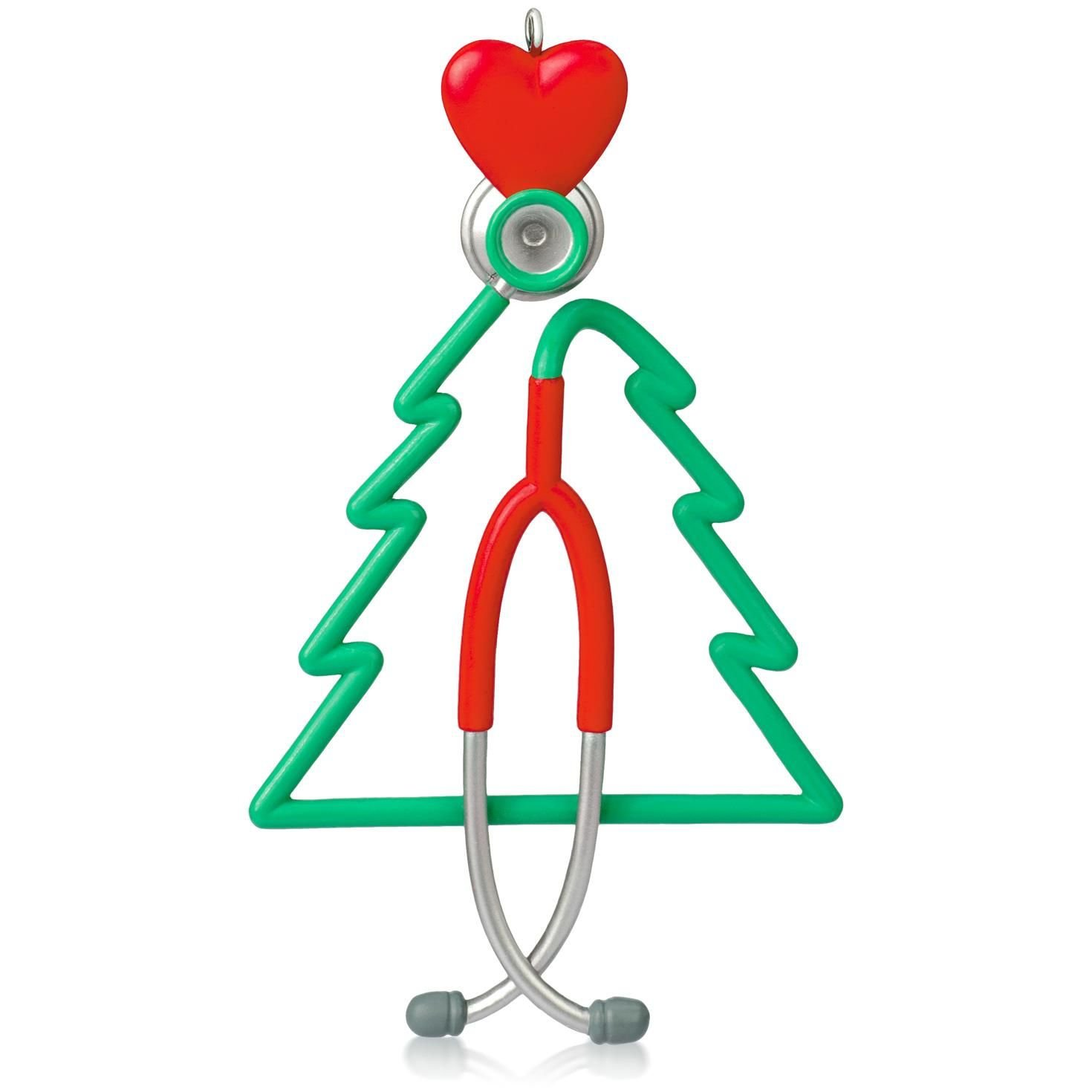 Amazon.com: A Caring Heart Stethoscope Ornament 2015 Hallmark: Home &  Kitchen
