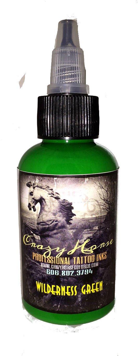 Crazyhorse High Quality Tattoo Ink - Wilderness Green