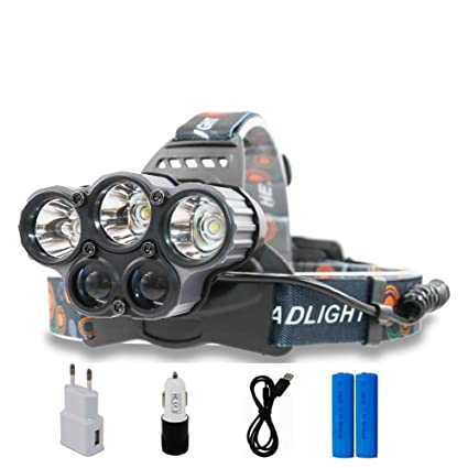 Glighone Lampe Frontale Led Rechargeable Headlight Super Puissante