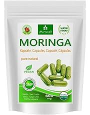 Moringa capsules 600mg ou Moringa Energy Tabs 950mg - Oleifera, végétalien, Produit de qualité de MoriVeda (120 capsules)