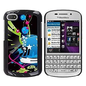 """For BlackBerry Q10 Case , Alas Street Art Pop pintada azul Policía"""" - Diseño Patrón Teléfono Caso Cubierta Case Bumper Duro Protección Case Cover Funda"""