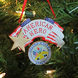 "4.25"" ""American Hero"" US Army Christmas Ornament for Personalization"