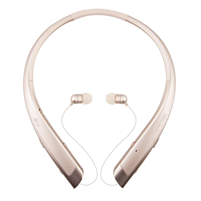 LG Tono Platinum hbs-1100 auricular con micrófono en Ear detrás the-neck soporte inalámbrico auriculares - Negro (Certificado Reformado): Amazon.es: ...