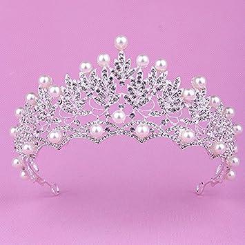 Amazon.com: Cantidad 1 x coreano novia ing corona Tiara ...