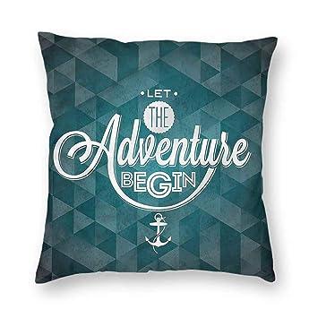 Amazon.com: Clayii Adventure - Funda de cojín para sofá ...