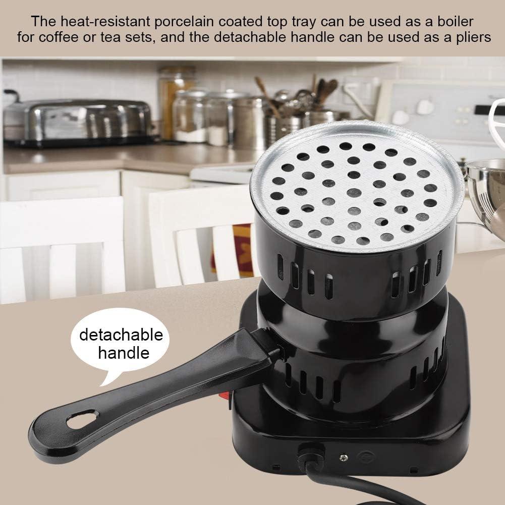 800W Elektronische Ofenkaffeeheizung Kleine Elektroofen-Kochplattenbrenner Holzkohleheizung f/ür Tee Kochplatte Kochplattenbrenner UK-Stecker: 220V Kaffee
