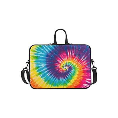"""InterestPrint Classic Personalized Tie Dye Rainbow Abstract Swirl 13"""" - 13.3"""" /Macbook Pro Air 13 Inch Laptop Sleeve Case Bags Skin Cover for Lenovo, GW, Acer, Asus, Dell, Hp, Sony, Toshiba"""