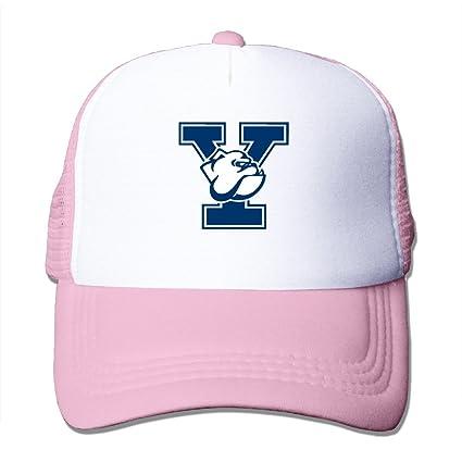 f9b064b8c50b8 SAXON13 Unisex Baseball-caps Meshback Yale Bulldogs Logo Hat Caps Pink