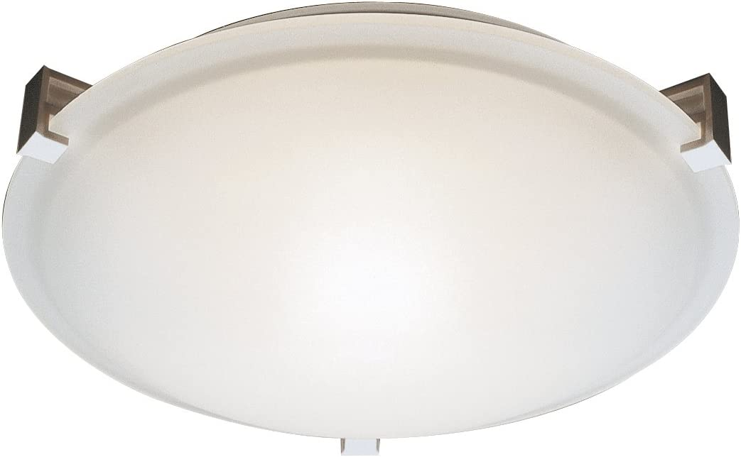 Trans Globe Lighting PL-59007 BN Indoor Neptune 15 Flushmount, Brushed Nickel