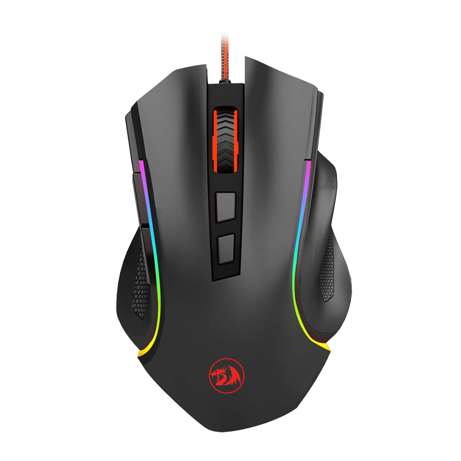 Redragon M602 RGB Wired Gaming Mouse RGB Spectrum Backlit Ergonomic Mouse Griffin Programmable with 7 backlight modes up to 7200 DPI for Windows PC Gamers [Black] by Redragon