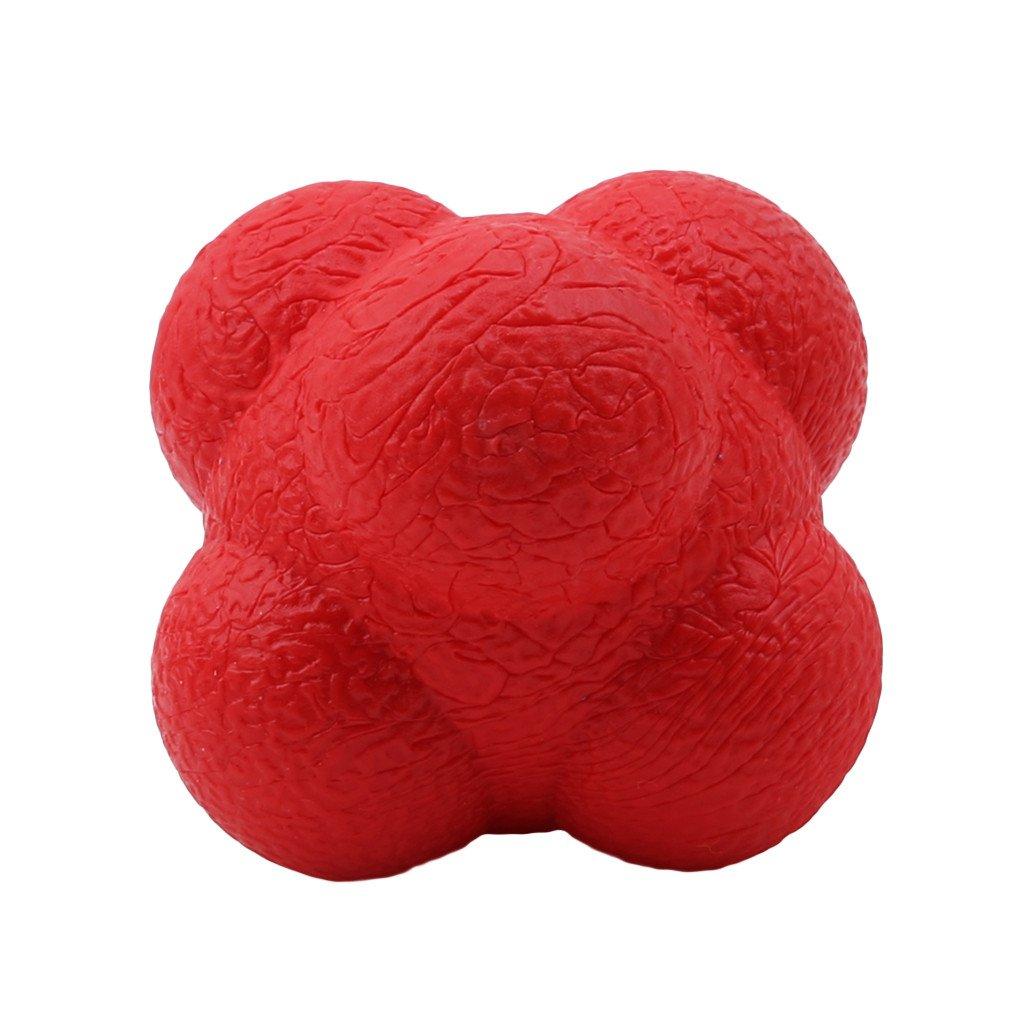 SEVENHOPE Outdoor Fun Hexagonal Ball Spielzeug Fitness Sechseck Reaktionsball Gummi Trainingsbä lle (Blau) DABO