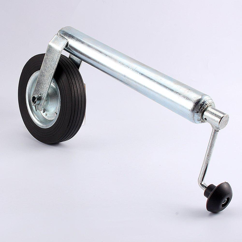 Rueda de soporte con abrazadera completa dividida para el remolque capacidad de carga de 150 kg Rueda de soporte para remolque en goma completa de 48 mm
