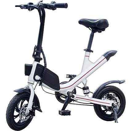 Bicicletta Elettrica 12 Pollici Nuova Pieghevole Mini Bicicletta A