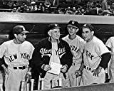 New York Yankees Phil Rizzuto, Billy Martin, Casey Stengel and Yogi Berra 8x10 Picture Photo. 1950
