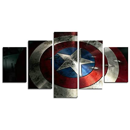 Amazon Com Atfart 5 Piece Captain America Shield Painting For