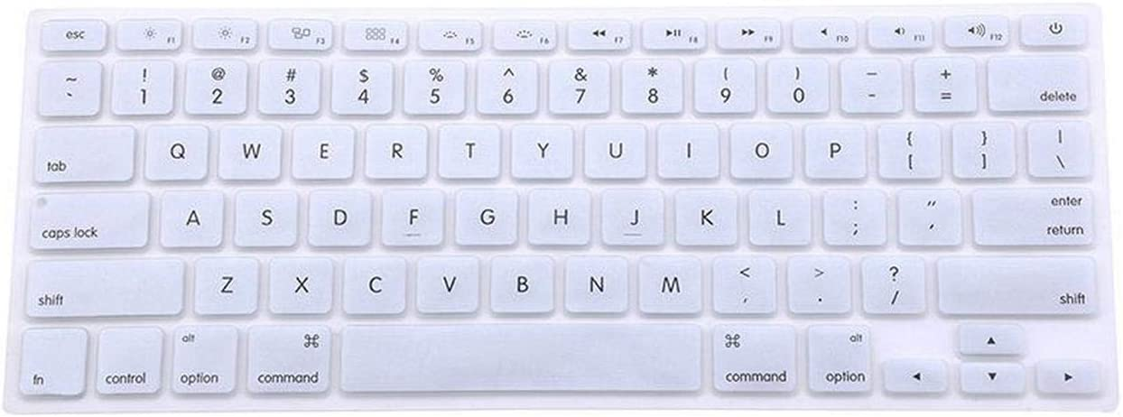 Silicone Keyboard Cover Protector Skin for Pro 13 15 17 Pro Air 13 Soft Keyboard Stickers 9 Colors-Silver
