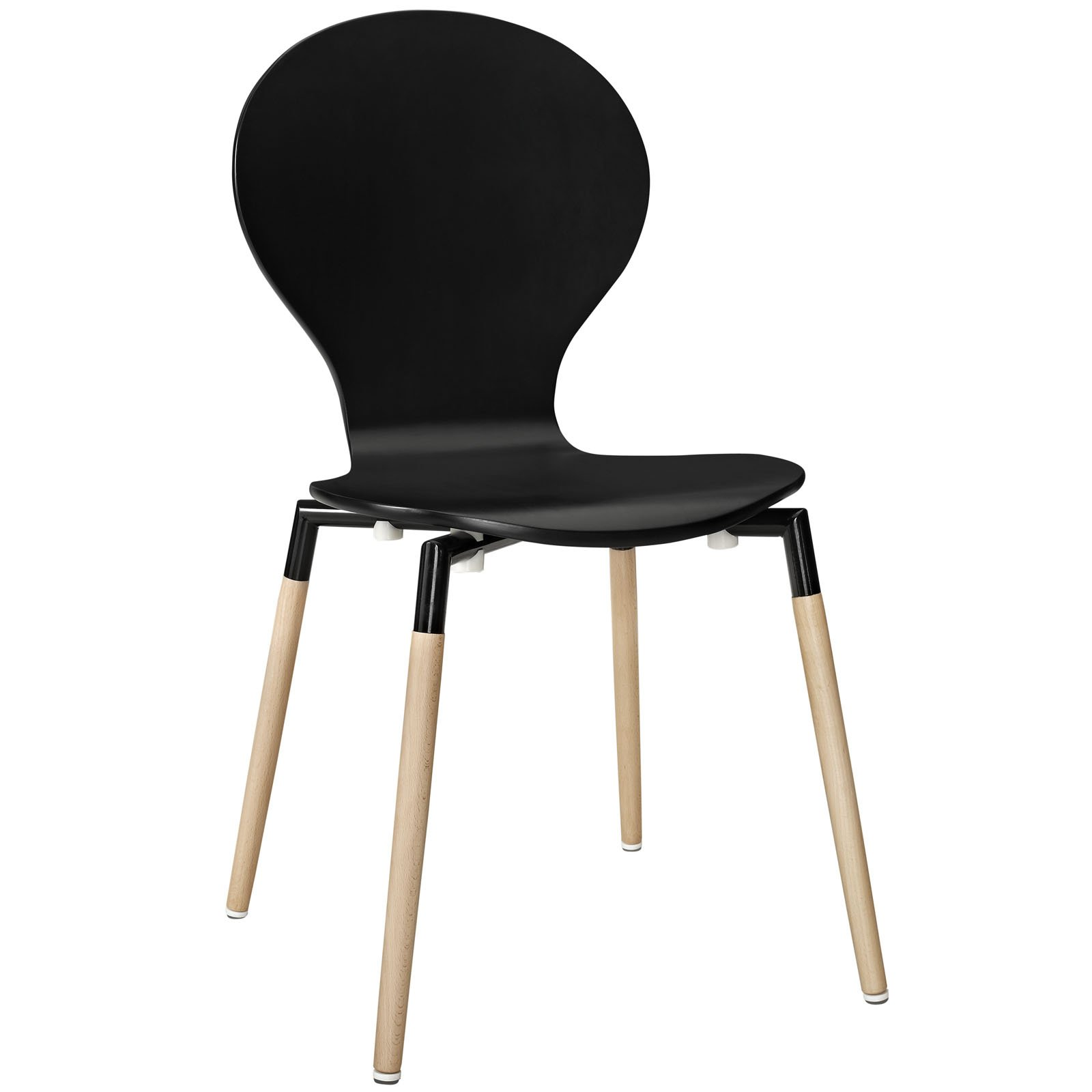 Modway Path Contemporary Modern Molded Dining Side Chair in Black