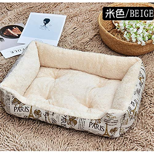 Beige 705215cm Beige 705215cm APRO Soft Dog Beds Warm Fleece Lounger SofaDog Beds Warm for Small Dogs Large Dog golden Retriever Bed Husky Kennel Pet Products