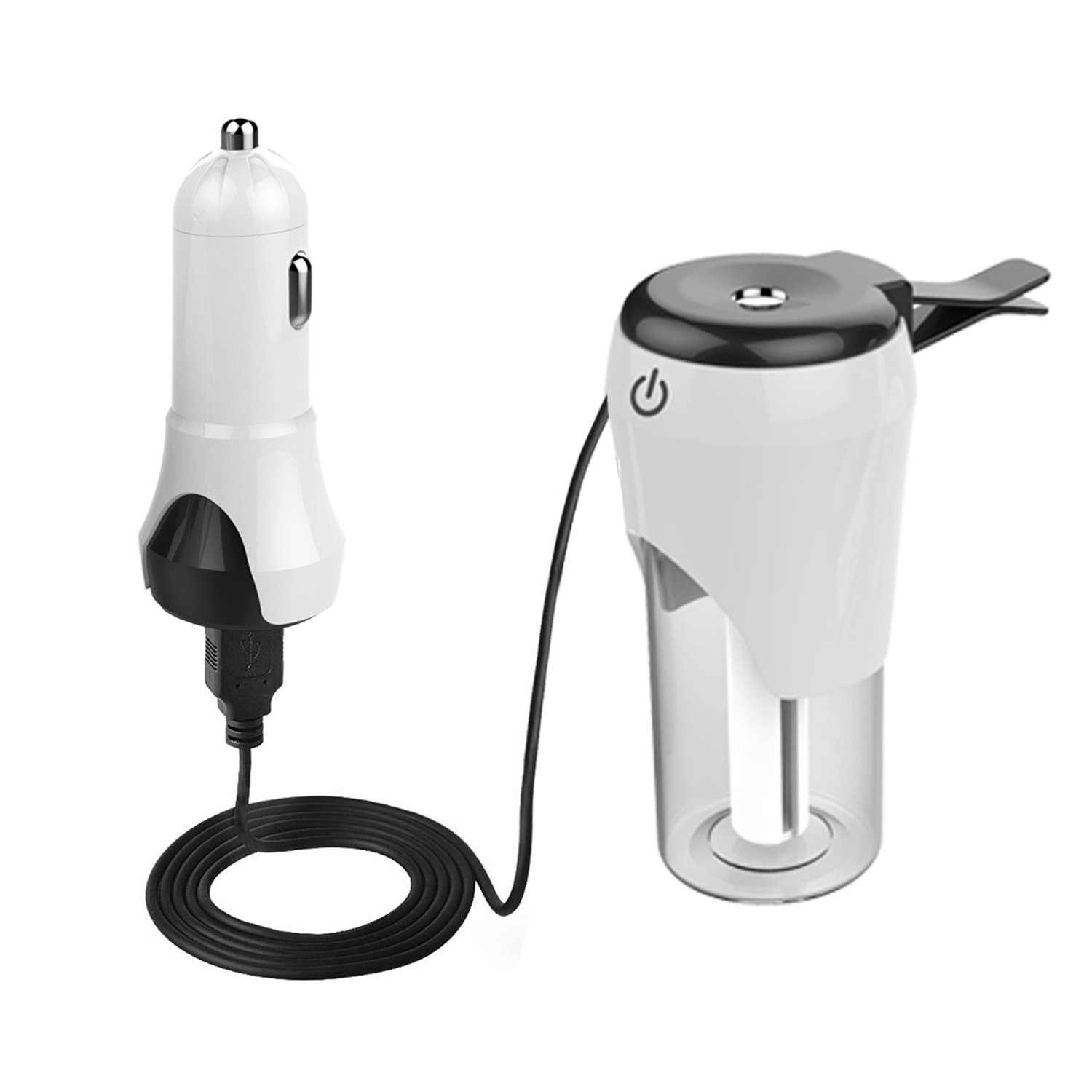 Dxmart Car Humidifier 2 in 1 Cool Mist Air Diffuser 50ml with 2 USB Port Car charger