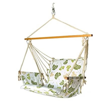 Slack Jack Safari Fabric Swing (White, Green and Brown)