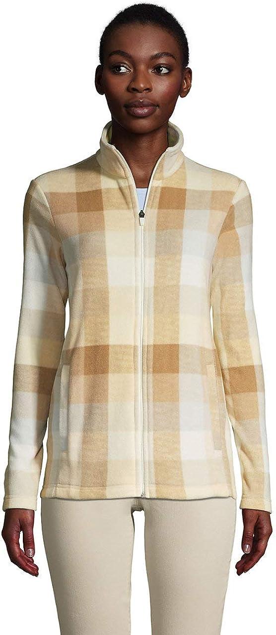 Lands End Womens Full Zip Fleece Jacket
