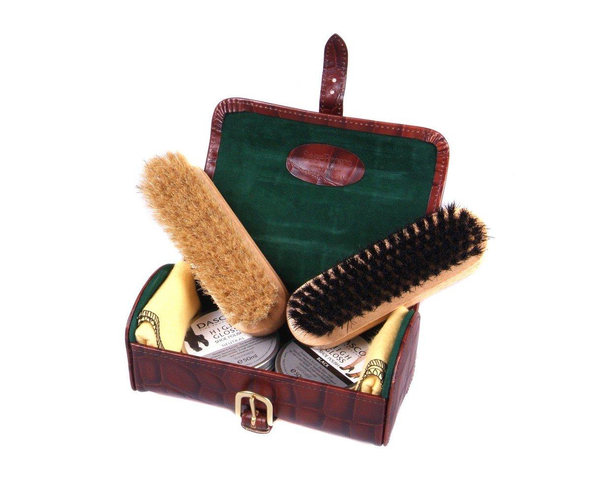 SAGEBROWN Brown Mississippi Croc Shoe Cleaning Kit