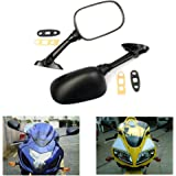 MZS Motorcycle Rear View Mirrors for Suzuki GSXR600 GSX-R600 2001-2012,GSXR750 GSX-R750 2001-2012,GSXR1000 GSX-R1000 2001-2012,GSX650F 2008-2012,SV650 SV650S 2003-2008,SV1000 SV1000S 2003-2008